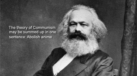 anime beard bw marx quote // 500x280 // 32.9KB