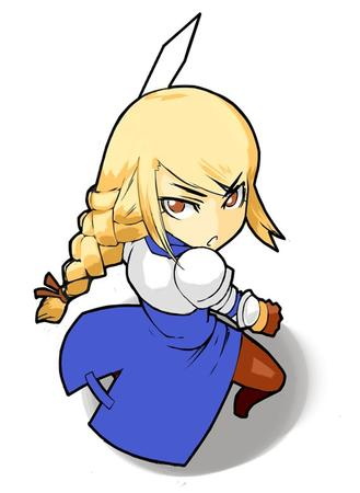 agrias armor blonde braids ffxi final_fantasy pauldrons super_deformed sword // 570x780 // 53.7KB