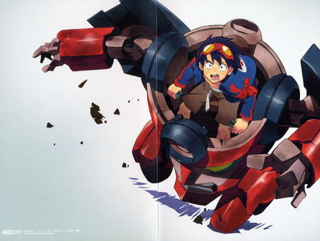 goggles gurren gurren_lagann high_res jacket mecha simon // 3000x2253 // 1.2MB