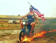 america fire flag goggles moped motorcycle mustache shorts tank_top // 600x462 // 58.1KB