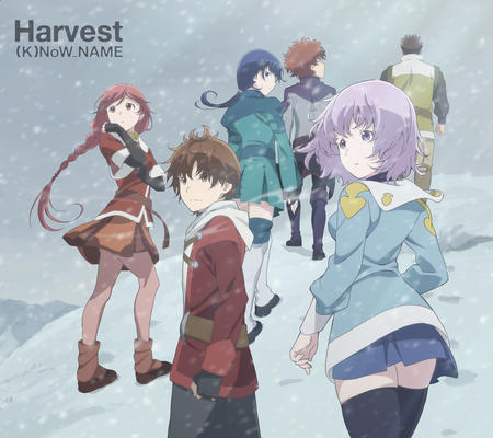boots braids gloves hai_to_gensou_no_grimgar jacket merry purple_hair redhead short_skirt shorts skirt snow thighhighs yume // 2241x1993 // 1.4MB