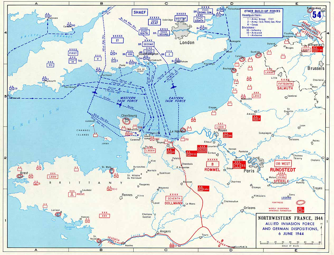 Britain France Germany Map Overlord Wwii - France germany map