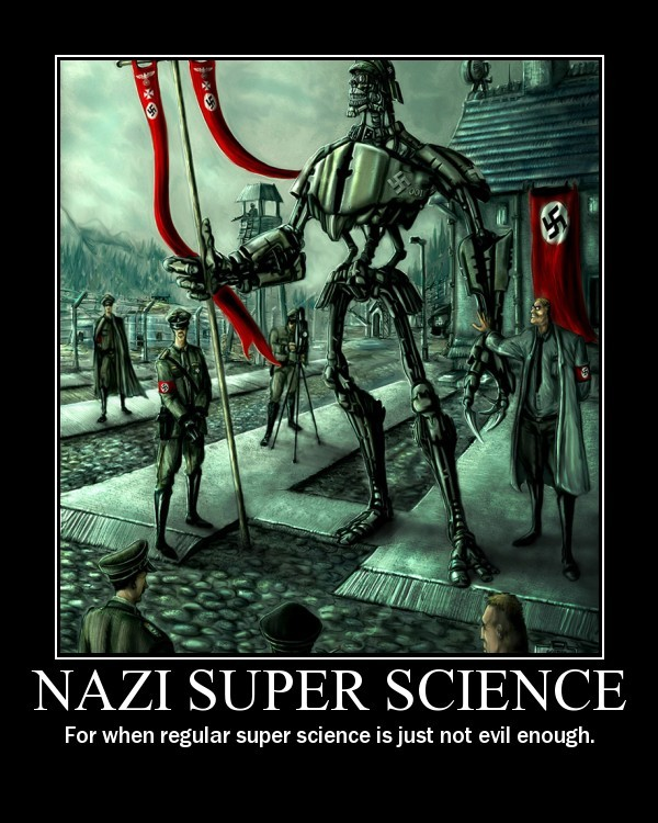 Image result for evil nazi super science