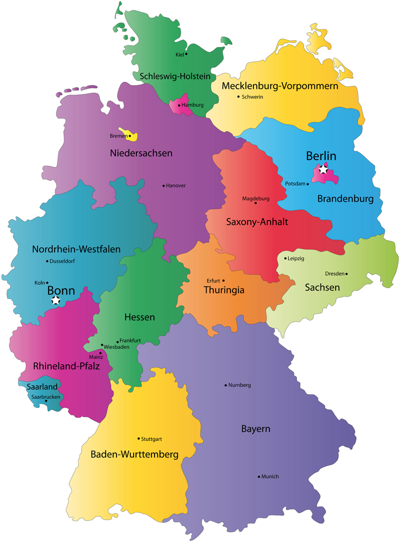 Germany Map - Germany map image