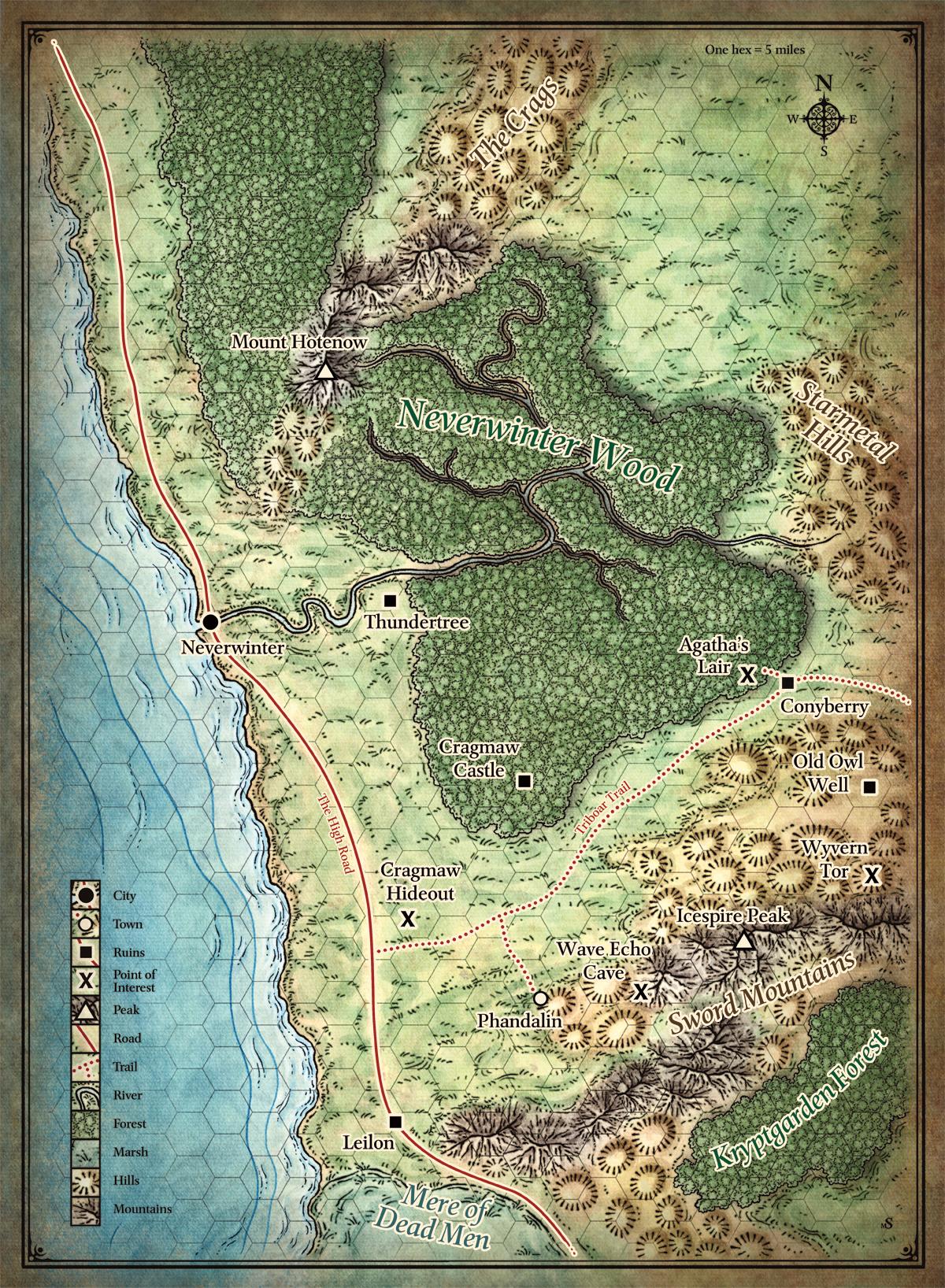 dnd forgotten_realms map neverwinter phandalin