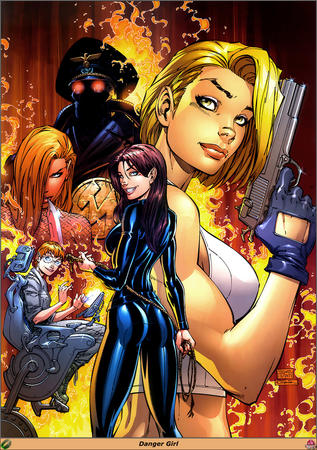 abby blonde brunette composite danger_girl glasses gloves gun jumpsuit natasha redhead sydney // 929x1320 // 613.2KB