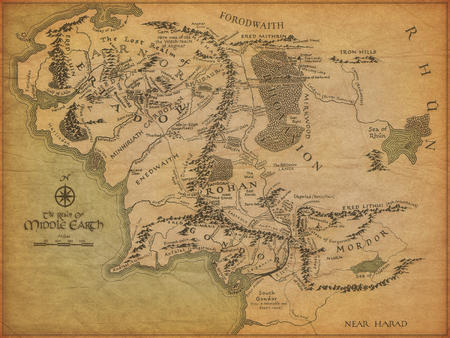 high_res lotr map middle_earth // 1600x1200 // 2.3MB