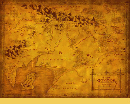 gondor high_res lotr map middle_earth // 1280x1024 // 1.6MB
