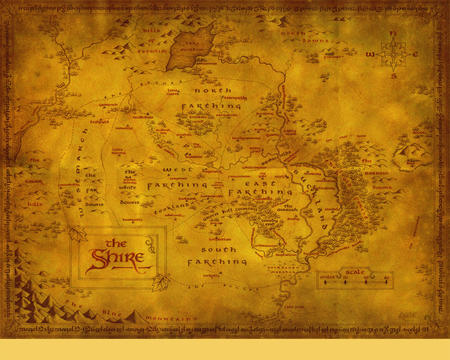 high_res lotr map middle_earth shire // 1280x1024 // 1.7MB