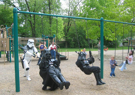 armor photo playground star_wars stormtrooper swings vader // 718x503 // 142.6KB