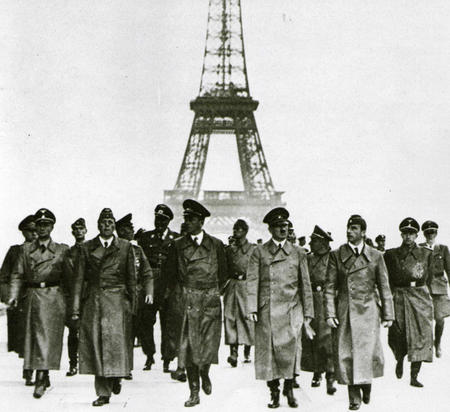 bw eiffel_tower france germany group high_res hitler nazi photo wwii // 3377x3093 // 4.6MB