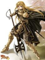 armor axe blonde gauntlets greaves long_hair pauldrons // 480x640 // 186.0KB