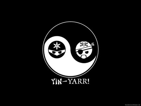 bw desktop ninja pirate vector yin-yang // 1600x1200 // 62.5KB