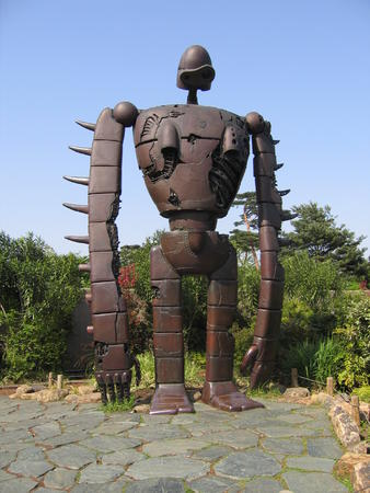ghibli high_res laputa museum photo robot statue // 1944x2592 // 1.5MB