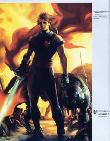 artbook blonde capcom gloves panther sword // 2000x2570 // 702.7KB