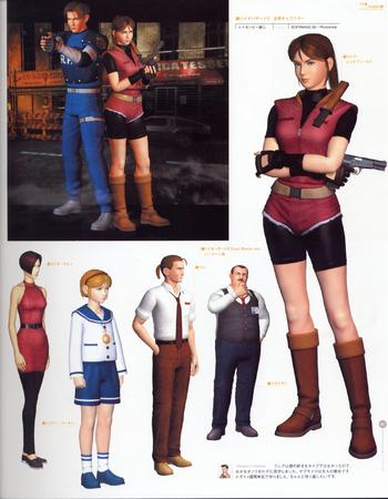 artbook boots capcom cg composite cop dress gloves gun pistol ponytail short vest // 2000x2568 // 742.5KB