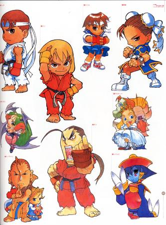 artbook capcom composite dark_stalkers high_res street_fighter super_deformed // 2000x2706 // 890.0KB