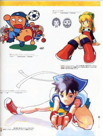 artbook capcom high_res megaman sakura soccer street_fighter // 2000x2634 // 613.8KB