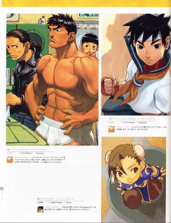 artbook capcom chun-li composite high_res ryu sakura street_fighter super_deformed // 2000x2612 // 753.8KB