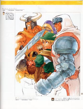 armor artbook capcom dwarf elf group high_res sword // 2000x2605 // 725.7KB