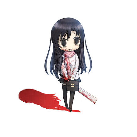 blood briefcase brunette kotonoha long_hair saw scarf school_days skirt super_deformed sweater thighhighs // 512x512 // 79.6KB