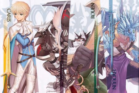 blonde composite group high_res shining_wind sword tony_taka werewolf // 2988x2000 // 1.1MB