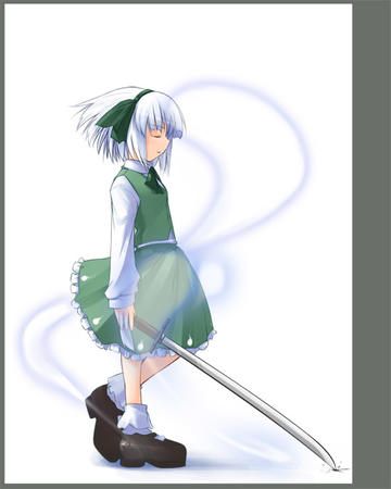 dress ribbons sword white_hair // 550x688 // 55.5KB