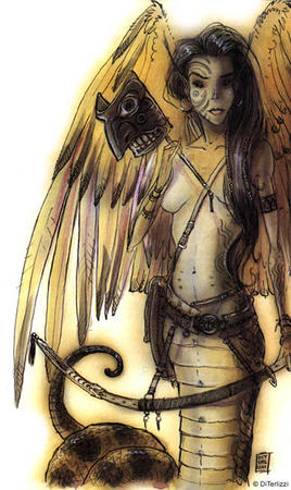 brunette diterlizzi dnd lilend long_hair mask planescape sword wings // 390x655 // 74.5KB