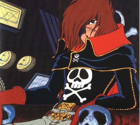 brunette cape eyepatch gloves harlock high-res pirate // 2028x1810 // 1.3MB