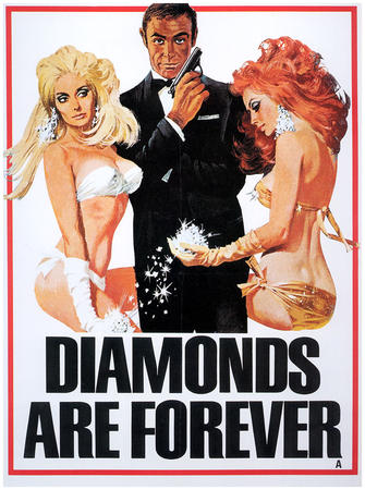 007 blonde bond diamonds gloves gun james_bond poster redhead sean_connery tuxedo // 819x1100 // 237.6KB