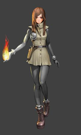 boots brunette fire gloves high_res tunic // 2480x4096 // 2.0MB