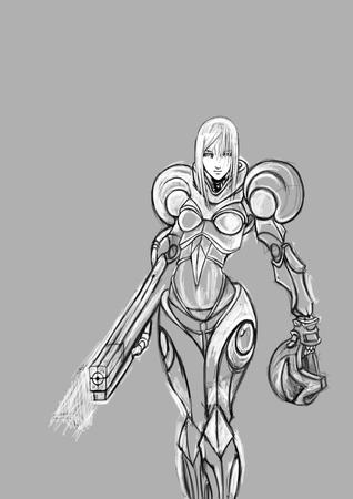 armor bw helmet high-res metroid samus // 2480x3508 // 1.1MB