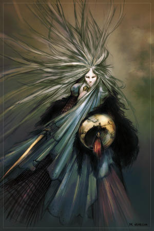 gray_hair long_hair shield sword // 534x800 // 150.0KB