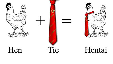chicken humor necktie // 480x272 // 43.6KB