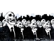 desktop group necktie skull suit // 1024x768 // 151.4KB