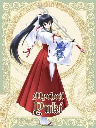 brunette card glasses long_hair miko sandals sword // 480x640 // 88.2KB