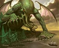 cthulhu james_ryman tentacles wings // 535x438 // 65.9KB