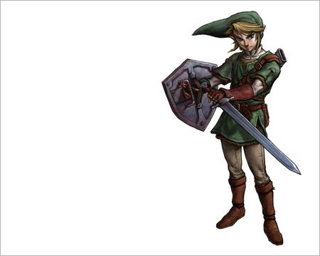 blonde boots desktop elf gloves link nintendo shield sword zelda // 1280x1024 // 433.0KB