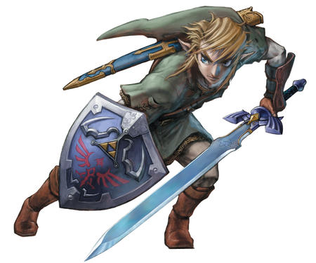 blonde boots elf gloves link nintendo shield sword zelda // 3026x2521 // 3.0MB