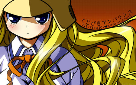 blonde blue_eyes genshiken helmet high_res kujibiki_unbalance long_hair ribbon // 2560x1600 // 1.2MB