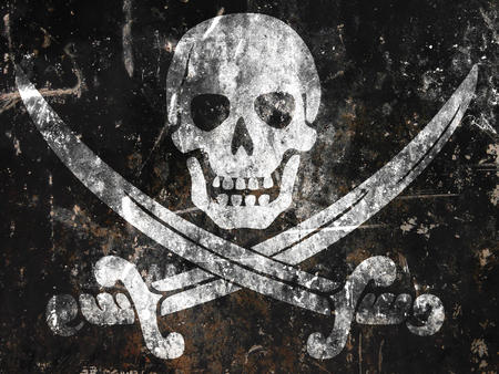 flag pirate skull sword // 1600x1200 // 694.2KB