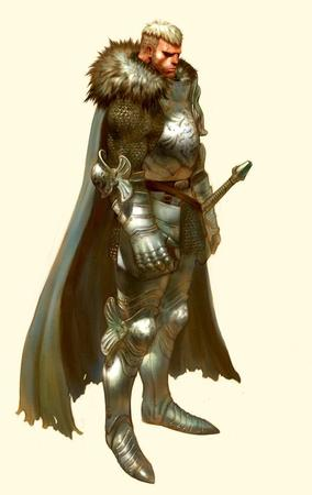 armor cape gauntlets greaves sword // 646x1024 // 63.5KB