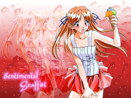 blush brown_eyes composite ice_cream long_hair sentimental_graffiti skirt // 800x600 // 257.4KB