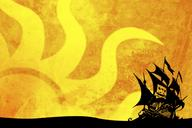 desktop pirate ship silhouette sun // 1280x854 // 256.8KB
