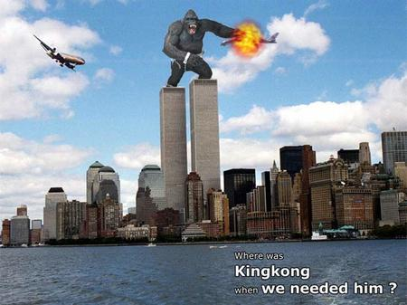 911 explosion humor im_going_to_hell king_kong wtc // 650x487 // 50.1KB