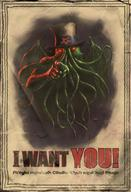 america cthulhu political propaganda tentacles uncle_sam wings // 342x500 // 44.5KB