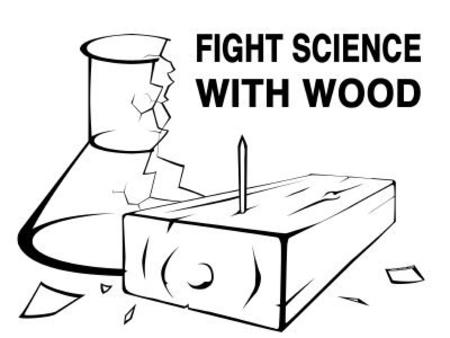beaker bw humor macro science wood // 400x300 // 20.5KB