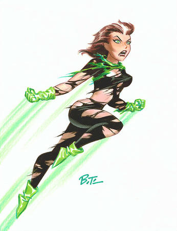 bruce_timm brunette gloves green_eyes marvel ripped_clothes rogue x-men // 559x728 // 81.2KB