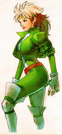 gloves green_eyes headband jacket jumpsuit rogue thighhighs x-men // 550x1189 // 333.1KB
