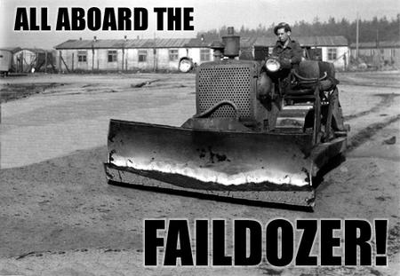 bulldozer bw fail faildozer macro photo // 500x345 // 92.7KB
